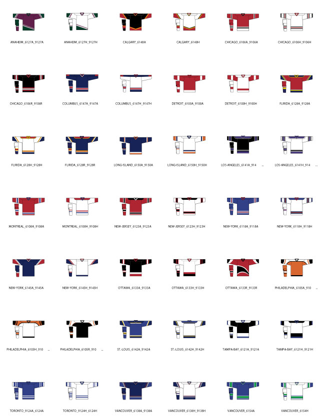 6100 Series Hockey Jersey Regular Pattern